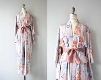 Kitte silk kimono | vintage floral kimono | japanese silk kimono robe