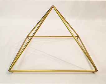 """20"""" Gold-Anodized Pyramid easy-to-assemble kit designed by Nick Edwards for Pyramid Planet."""