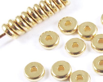 TierraCast Beads-Bright Gold DISK SPACER 5mm (25)