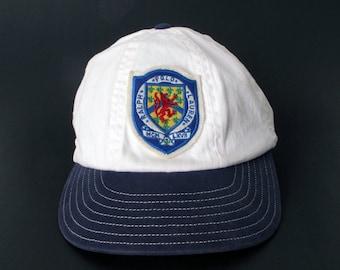 Vintage 90s POLO R.L.P.C CAP hat crest  stadium p-wing flag