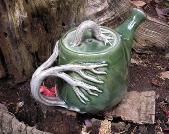 Tree Teapot with lots of detail , 32 oz. capacity