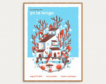 Yo La Tengo - Official Gig Poster, August 7th 2016 - 18x24