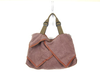 Vintage Canvas carry on luggage bag tote Soft Shell Shoulder Bag Suitcase Purple Vacation Bag Small Carry All Duffle Bag Dells