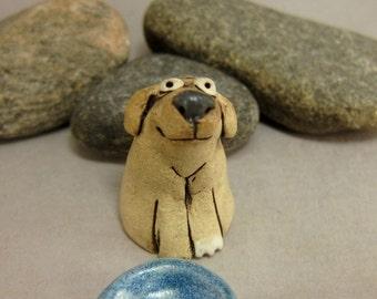 Pupu...Miniature Dog in Stoneware