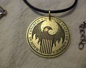 Magical Congress of the USA Etched Brass Pendant