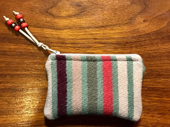 Wool Coin Purse / Phone Cord / Gift Card Holder