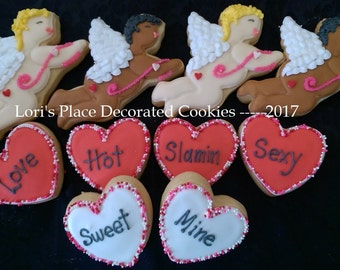 Valentine's Day Cookies - Cupid Cookies - 12 Cookies