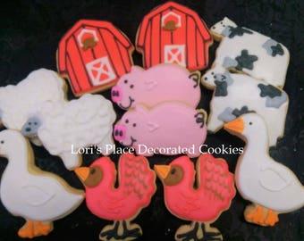 Barnyard Cookies - Farm Cookies - 12 Cookies