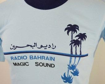 last chance Vintage RADIO BAHRAIN Magic Sound t-shirt size medium 1980's 90's