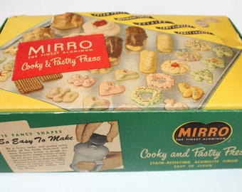 Vintage Miirro Cookie & Pastry Press, Complete in Box