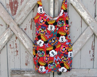 1990s Mickey & Co bandage mini dress S M