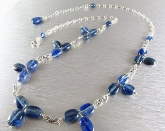 25OFF Kyanite and Sterling Silver Adjustable Necklace