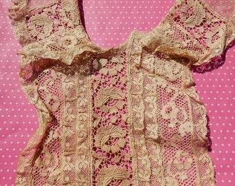 Antique Lace Vintage Lace Mixed Lace Collar and Bodice