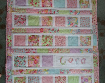 Handmade Personalized Baby Quilt