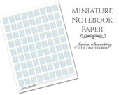 Miniature Notebook Paper PDF Download