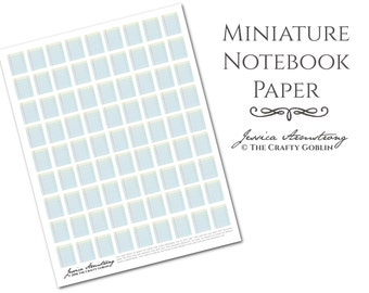 Miniature Notebook Paper PDF Download