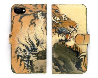 Leather iPhone 7 case, Galaxy S8 Case, iPhone 6s Case, iPhone 6s Plus Case - Tiger Tiger