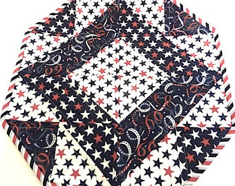 Red, White and Blue Stars Table Topper