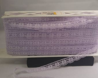 Lavender Flat Lace trim FAMOUS LACE for Sewing Art Craft #B502