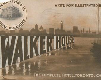 1911 Vintage Toronto Postcard - Walker House Hotel