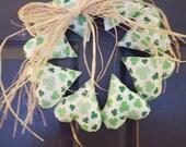 Shamrock Heart Wreath - Handmade - St Patrick's Day