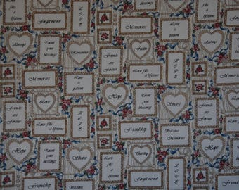 Heirloom Memories Print Faye Liverman Burgos Marcus Bros. 1 Yard