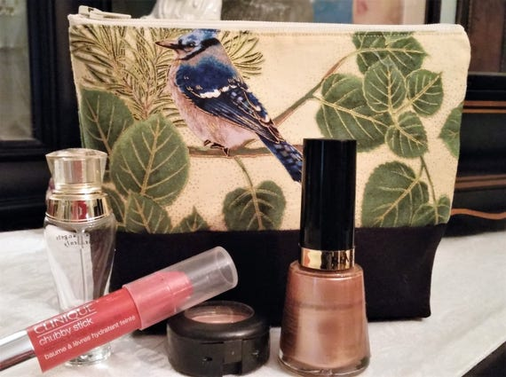 Aspen Birds Make Up Bag / Coin Bag / Storage Bag / Cell Phone Pouch / Wallet / ONLY ONE