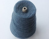 450 gm Linen Weft Thread -  Destash - Weaving Thread -  Flax Yarn - Slate Blue - Thread for Weaving Tea Towels - Loom Weaving - Handweaving