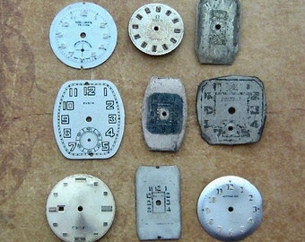 Vintage Antique Watch  Assortment Faces - Steampunk - Scrapbooking f7