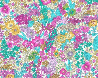 Liberty Fabric Margaret Annie X Exclusive Pink Teal Tana Lawn Fat Quarter