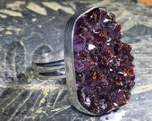 Canadian Amethyst Cluster Ring - Free Form