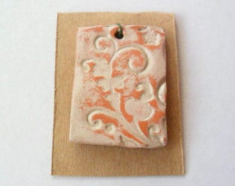 Tumbleweed Glazed Terra Cotta Pendant Finding