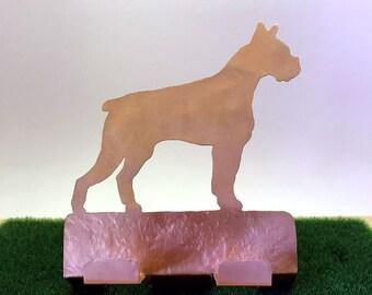 Boxer Cell Phone Holder Copper Desk Accessory Boxer dog Cell Phone Charger Boxer items dog gifts