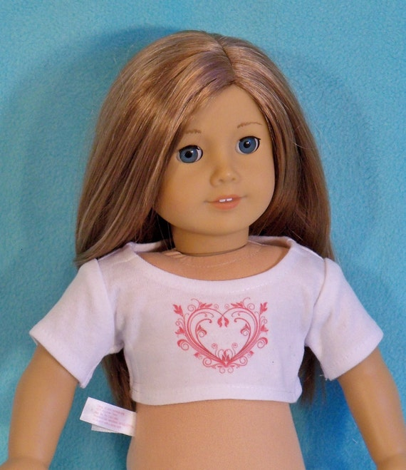 American Made 18 inch Doll Valentine Graphic Crop Top