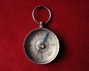 Brass compass pendant I