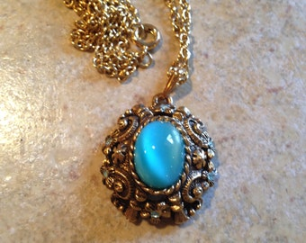 NEW Aqua Necklace by Sarah Coventry