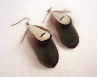 Jade Feather Earrings