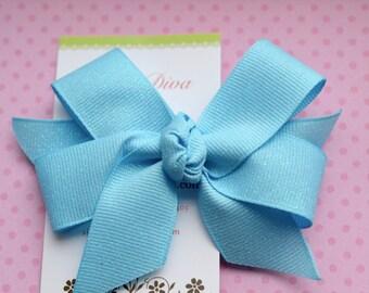 Sky Blue Fairy Dust Classic Diva Bow