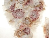 Custom fabric brooch bouquet reserved for Mallorie