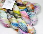 Hand Dyed  Speckled Sock Yarn - SW Sock 80/20 - Superwash Merino Nylon - 400 yards  - Pinball