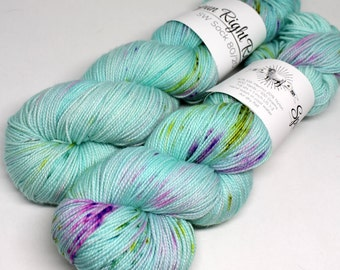 Hand Dyed  Speckled Sock Yarn - SW Sock 80/20 - Superwash Merino Nylon - 400 yards  - One of a Kind - Surprise Party - Wishes