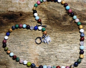 """Multi-Gemstone Necklace.   Support """"Shepherd's Gift: GM1 for HD""""  (Free Shipping!!)"""