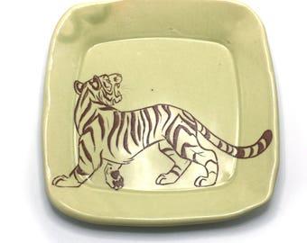 Green Tiger Ceramic Dish
