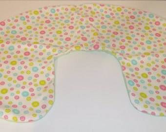 Boppy Pillow Cover  Baby Buttons   Nursing Pillow Cover   Nesting Pillow Cover  Nurture Pillow Covers