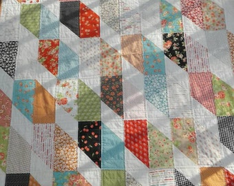 Lap quilt featuring Farmhouse by Fig Tree for Moda