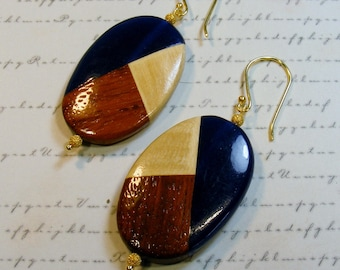 Three in One-blue, cream, brown, gold, 3 inches or 7.5 cm