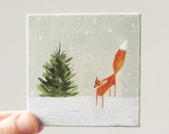 tiny forest / original painting on canvas