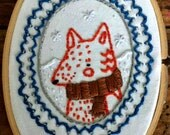 Woodland Winter Fox - Embroidery Hoop Art - CLEARANCE