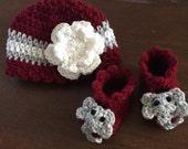 Crochet Alabama Hat and Booties