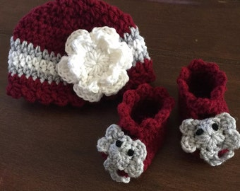 Crochet Alabama Hat and Booties